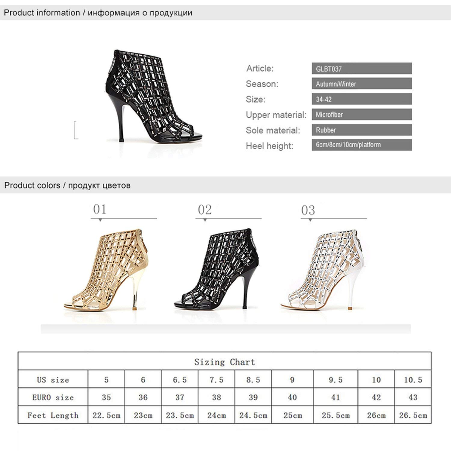 I Need-You Woman Boots Ankle Summer Shoes High Heels Brand Rhinestone Women Wedding Shoes Platform Open Toes Female Sandals Boots Plus Size,Silver Boots 6cm,4