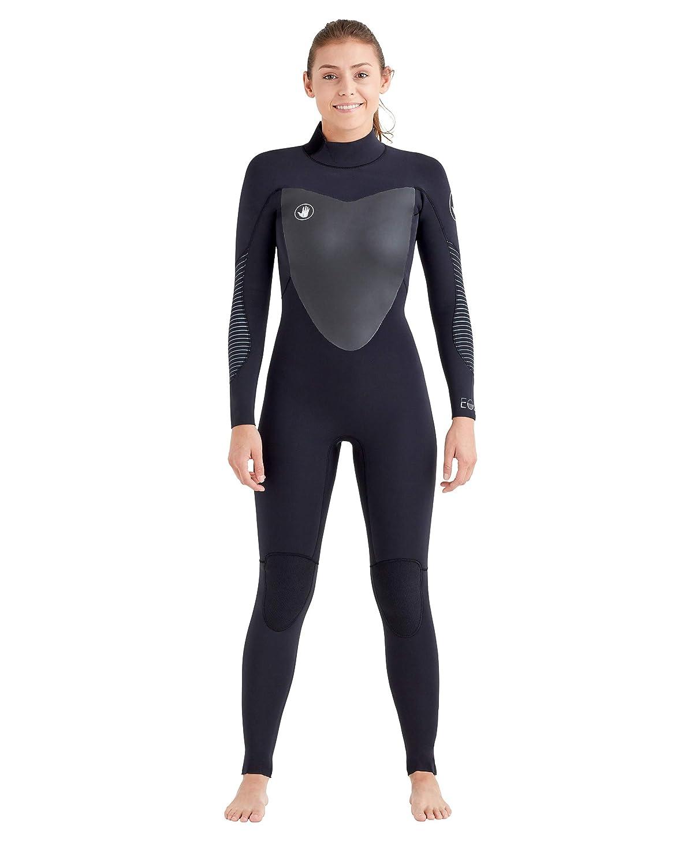 EOSボディグローブ3 / 2 mmレディースBack Zip Wetsuit ブラック