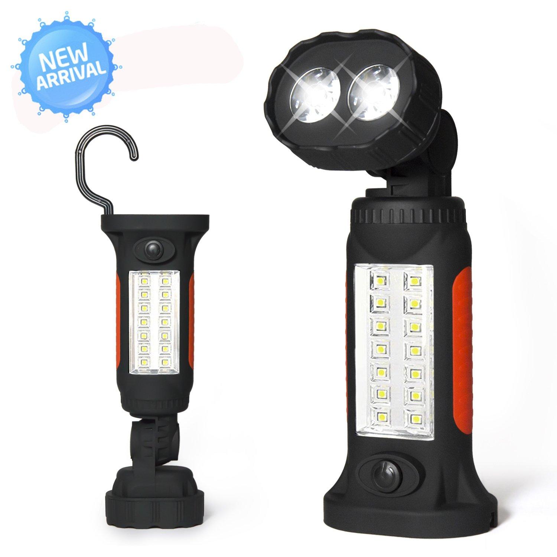 Work Light Rechargeable Led Garage Jobsite Plastic: Portable Led Flashlight Garage Lights Emergency Work Light