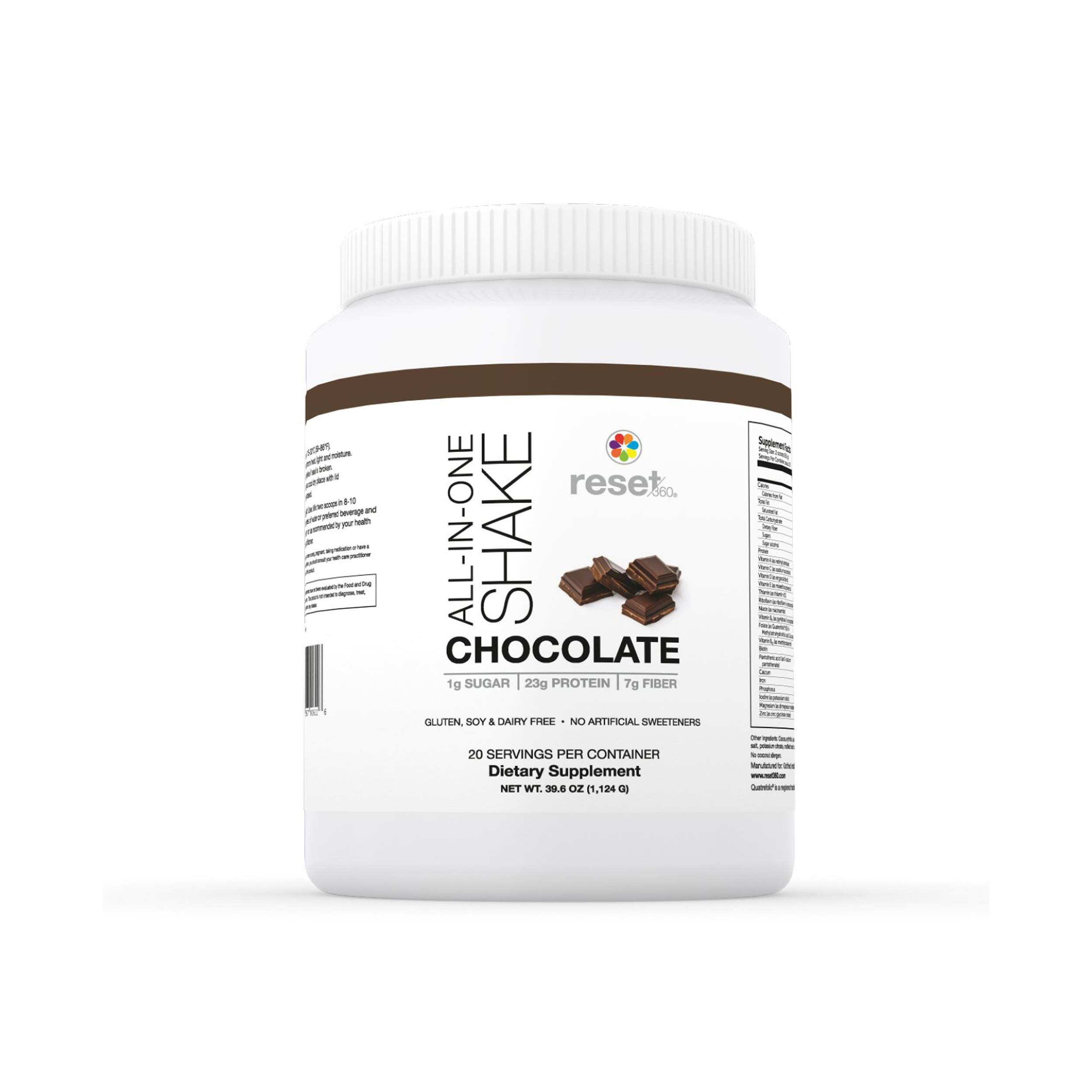 Chocolate Protein Powder Meal Replacement Shake - Low Carb Dietary Supplement Protein Powder- Weight Loss Shakes from Dr Sara Gottfried Author of The Hormone Cure - Reset360 by Reset360
