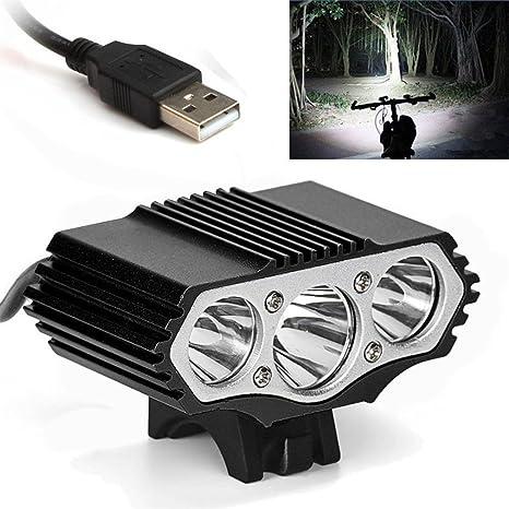 Batería Kit 12000lm 3 x CREE XM-L U2 LED 4-Mode bicicleta de la luz del faro