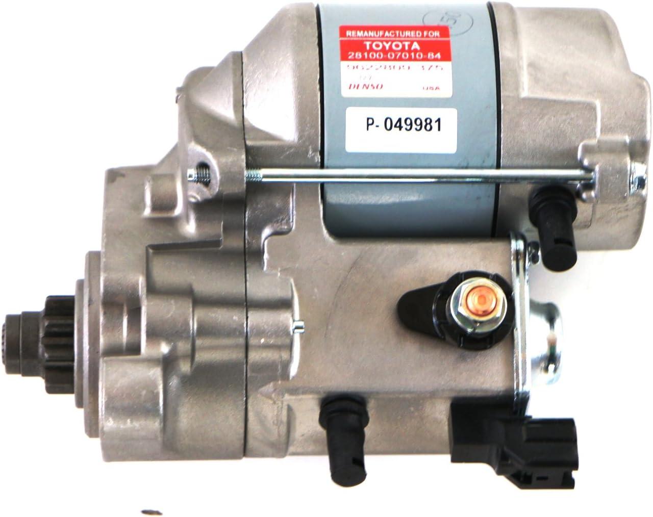 Genuine Toyota Parts 28100-07010-84 Remanufactured Starter for Toyota T100 V6//Tacoma V6//Tundra V6