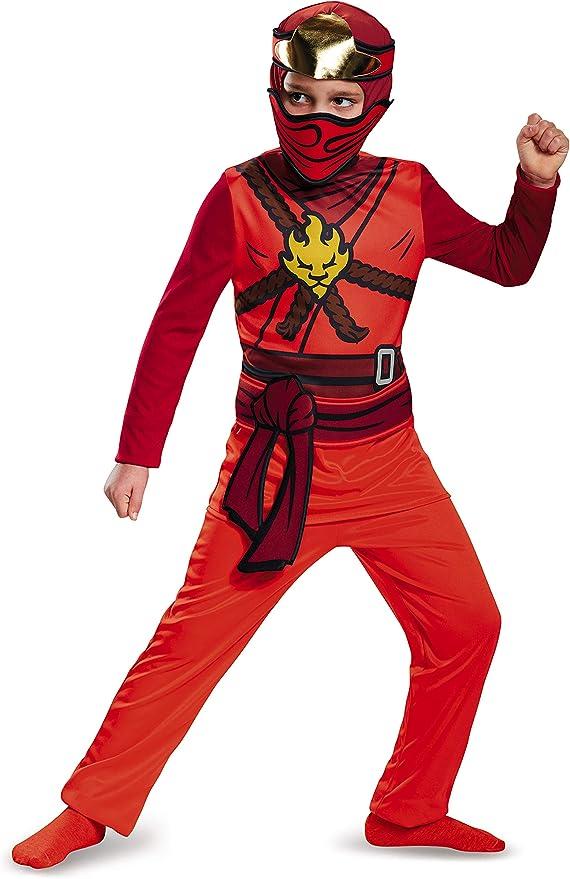 LEGO Ninjago Movie- Classic Kai Disfraz, Color rosso, large ...