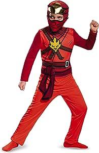 LEGO Ninjago Movie- Lego Ninjago Jumpsuit Kids Disfraz, Color kai ...