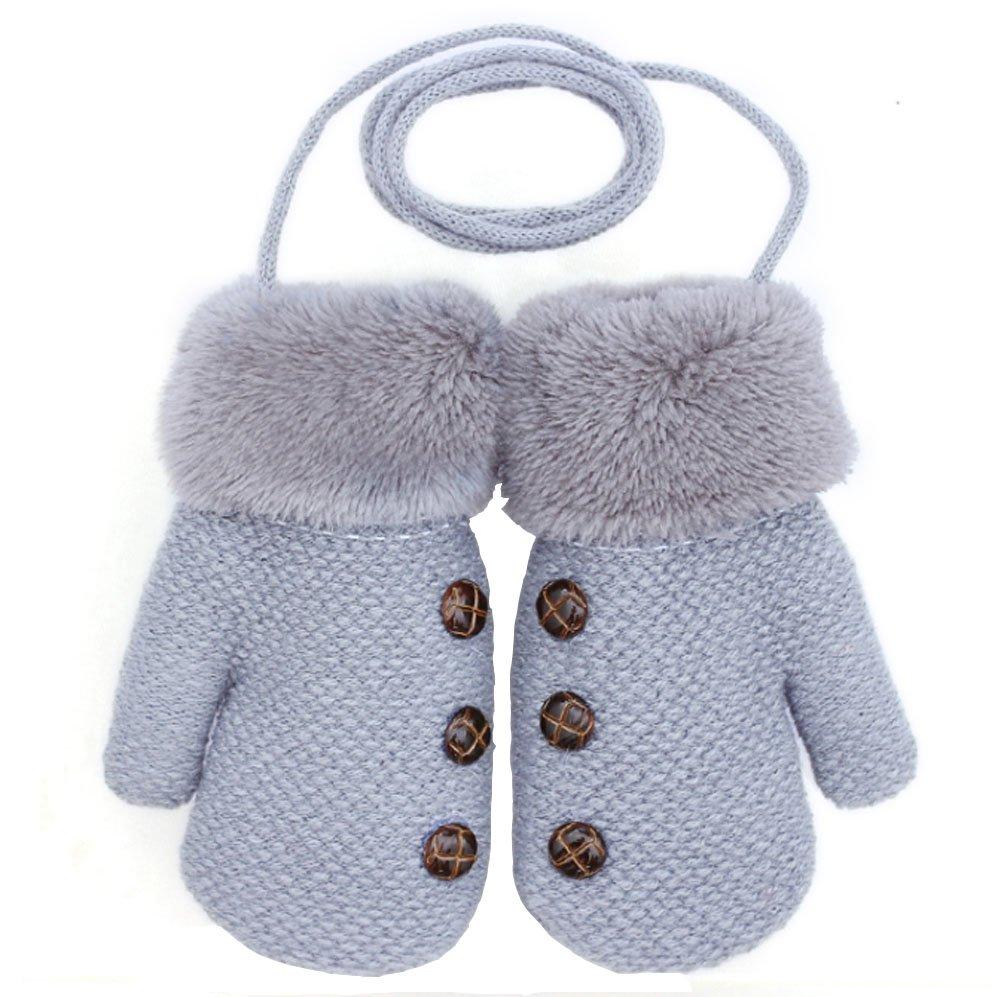 Knitting Gloves For Baby Winter Warm Gloves New Arrival[Gray] Black Temptation