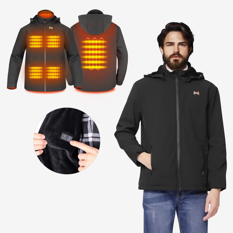 Chaqueta T/érmico Electrico para Hombre y Mujer Chaleco calefactable recargable por USB Con cuello t/érmico Bater/ía no incluida // Salida adoptada 5V // 2A o superior chaqueta c/álida para Moto