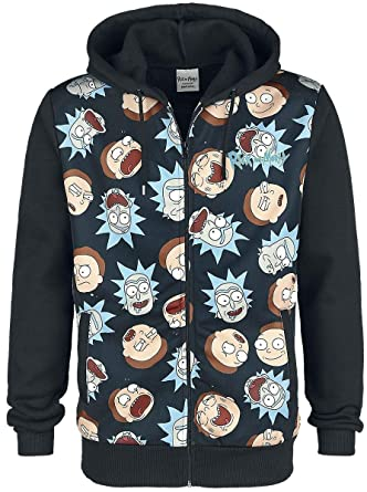 Difuzed Rick and Morty Hooded Sweater Rick & Morty Pattern Size L Felpe