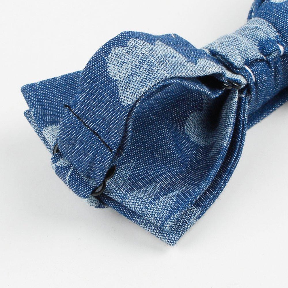 Levao Mens Cotton Floral Bow Tie
