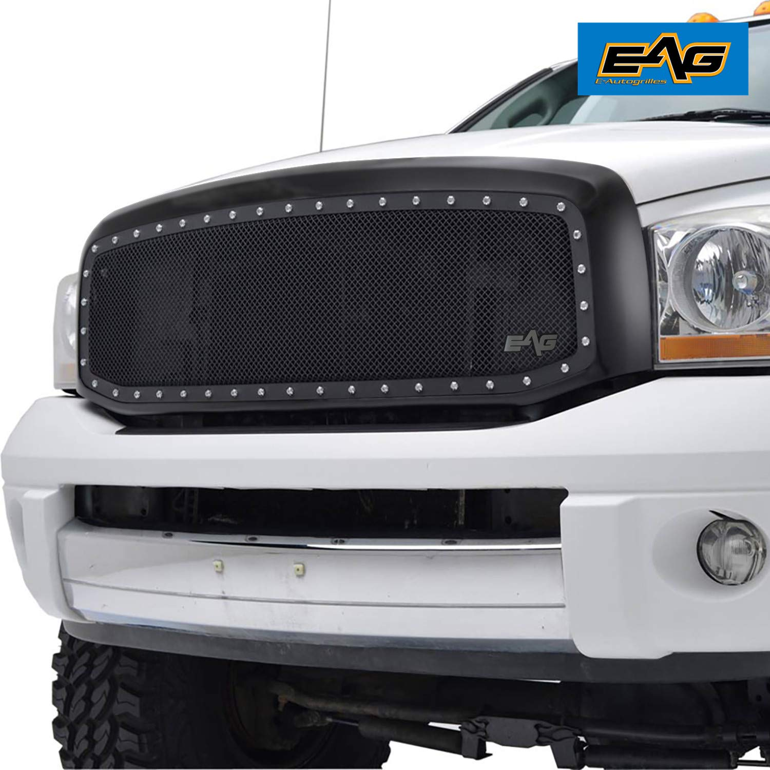 EAG Stainless Steel Wire Mesh Replacement Fit for 06-09 Dodge Ram 1500/2500/3500 Grille by EAG