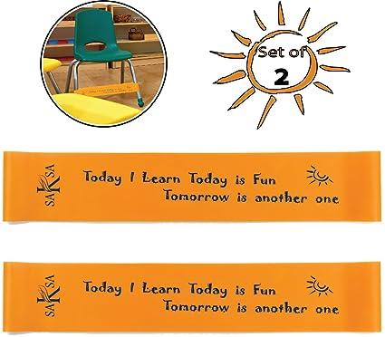 SAKSA - Paquete de 2 bandas para sillas de color naranja ...
