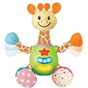 Charmie The Giraffe. Baby Learning Stuffed Giraffe Toy with Plush Snuggle Body. Featuring Simple and Fun Phrases, Sounds, and Melodies for Ages 3 Months+. Toddler Learning Toy with Light Up Buttons