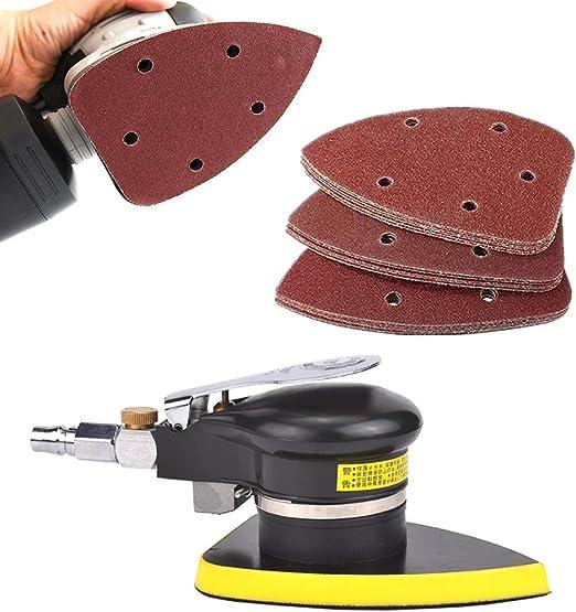 Cionyce 50 Pcs 80 Grit Mouse Detail Sander Sandpaper 5 Hole Mouse ...