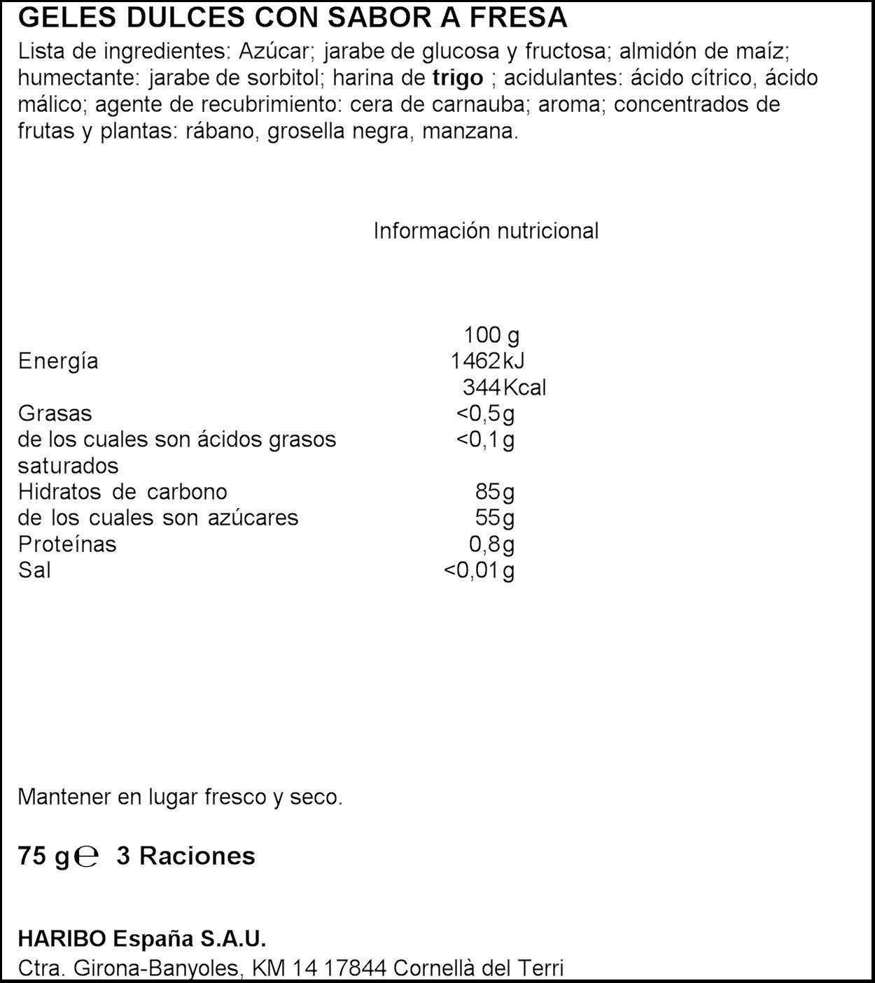 Haribo Spaghetti Geles Dulces con Sabor a Fresa - 75 g: Amazon.es: Amazon Pantry