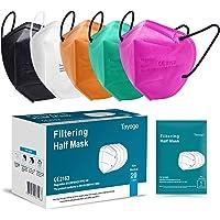 Tayogo Masker FFP2 10/20/50 Stuks CE-Gecertificeerd Mondmasker met 5-laags Filtersysteem Beschermmasker…
