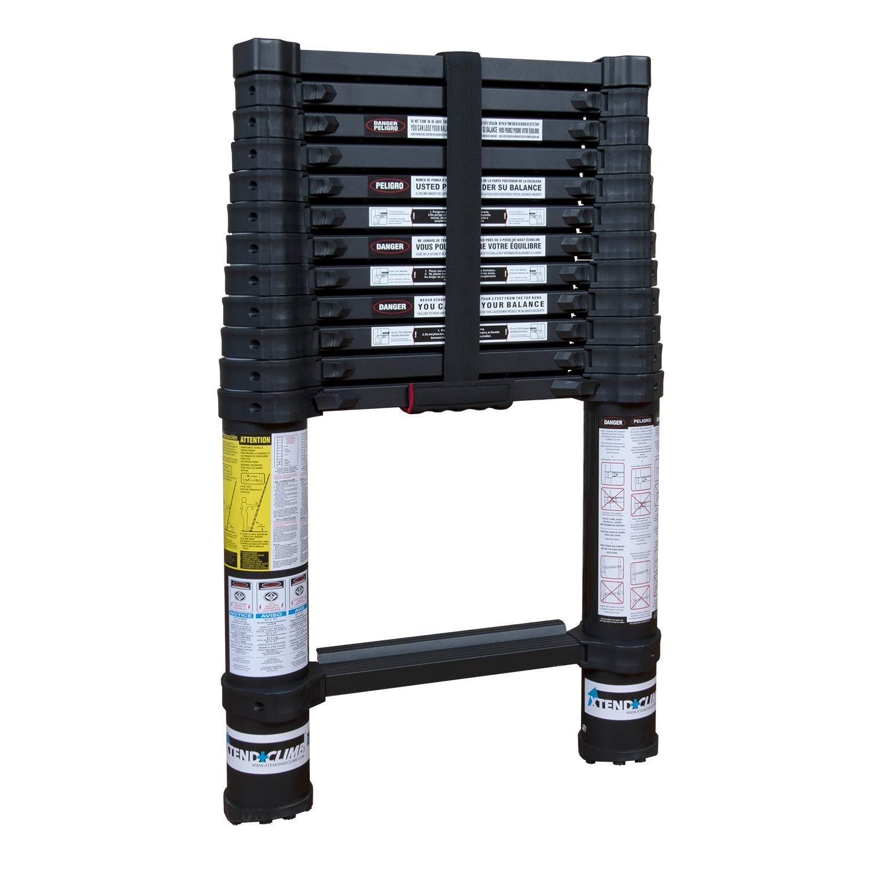 Xtend & Climb Contractor Series 125+/300 Telescoping ladder, Black