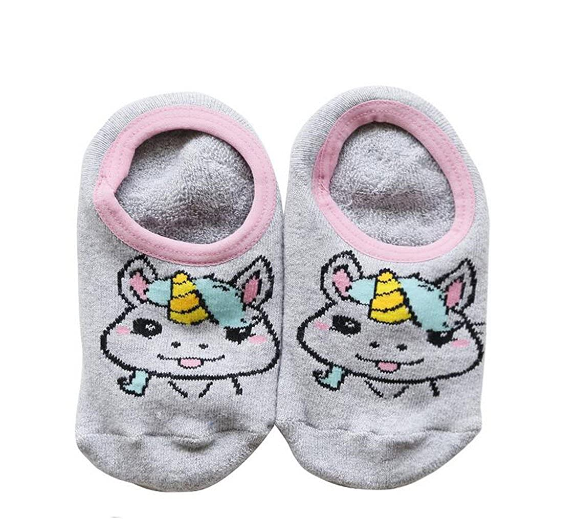 Lucky staryuan 10 Pairs Anti-slip Baby Socks Cartoon Toddler Socks 2-3years, Girl