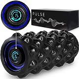 CubeFit Pulse Vibrating Foam Roller | Rechargeable Vibrating Foam Roller | Vibrating Roller | Foam Roller Vibration | Massage Roller for Muscles | Back Roller Massager