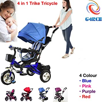 160a0a33771 G4RCE® 4 in 1 Kids My First Trike Boys Girls Ride On Bike Parent Handle