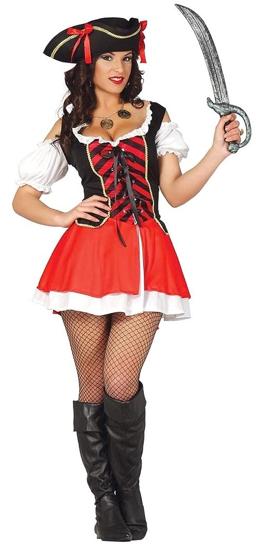 Ladies Sexy PIRATA Capitán Villano bucanero disfraz 12 - 18 ...