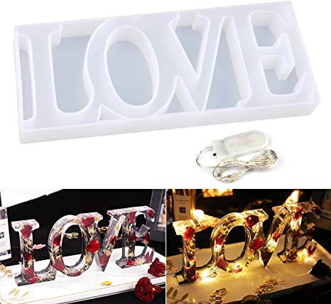 Love Resin Mold mold makes 3 shapes tol1082 reusable Silicone Mold to make flat back cabochons