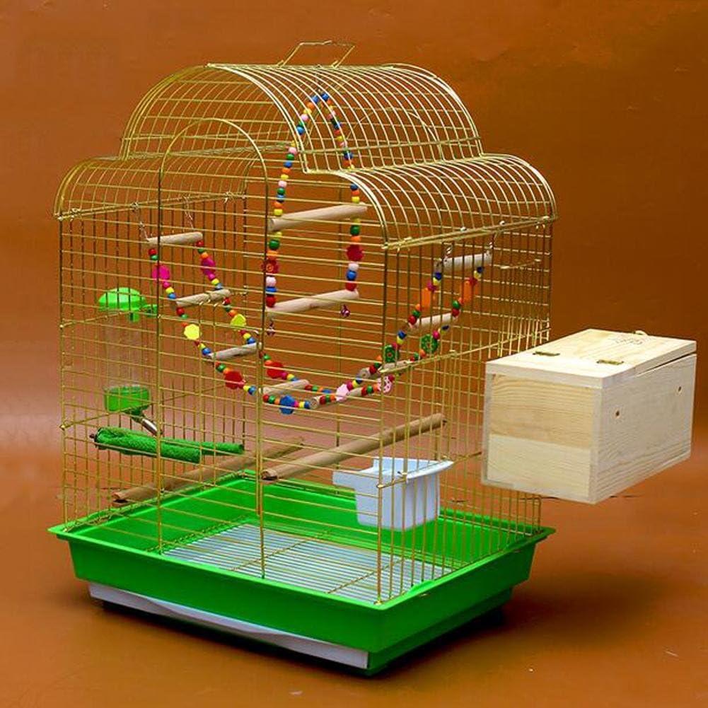 JiaYue Luxury100 de Alta Temperatura de Cromo Metal Jaulas para Pájaros de Oro de Color de Gran Tamaño 52x41x70cm, Golden Color, Set 4