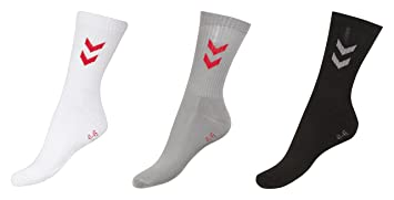 Hummel Fire Knights - Calcetines para hombre, 3 pares multicolor Black/White/Grey