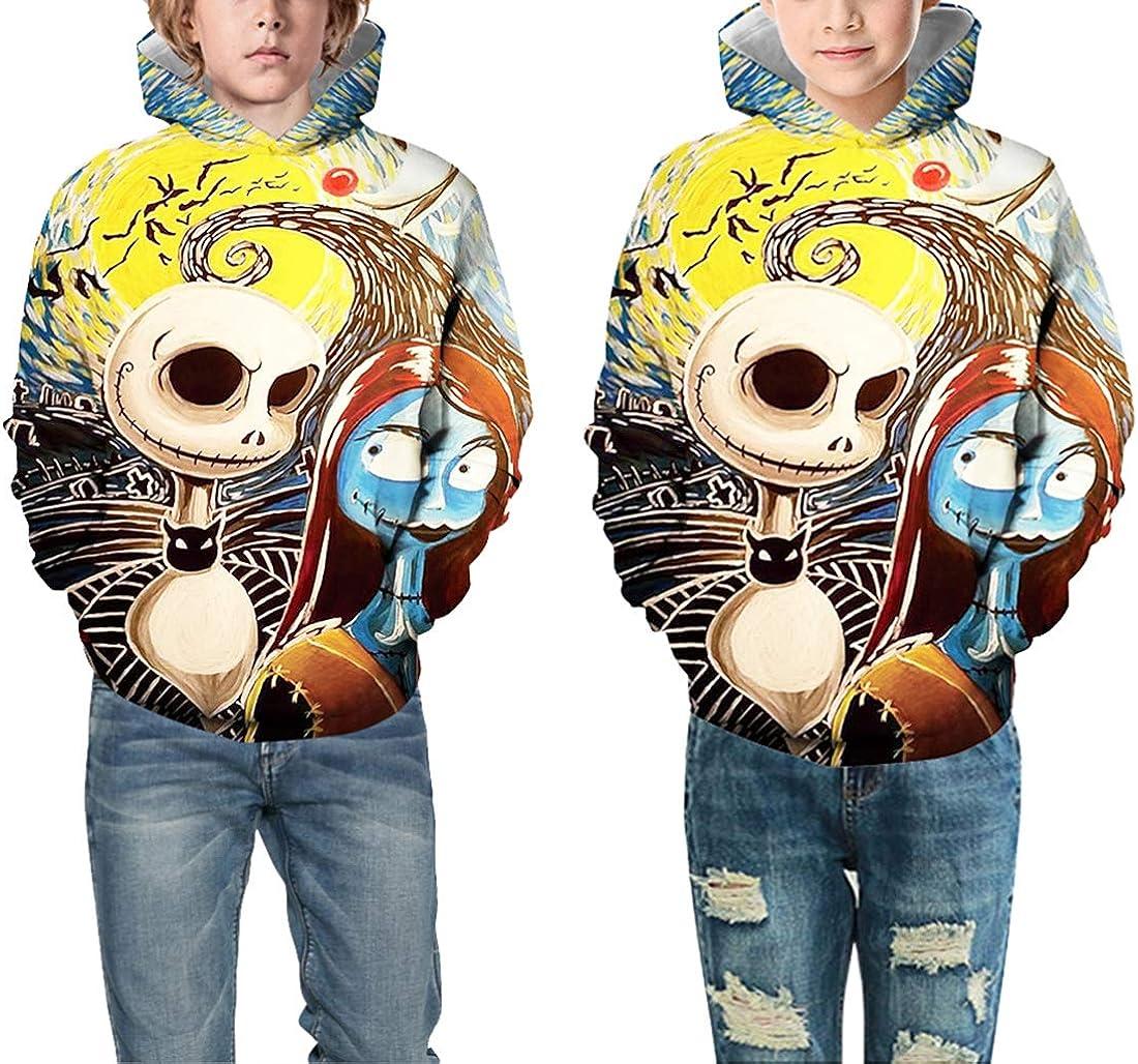 OLIPHEE Little Boys Realistic Full 3D Spring Fashion Hoodie Funny Novetly Printed Sweatshirt