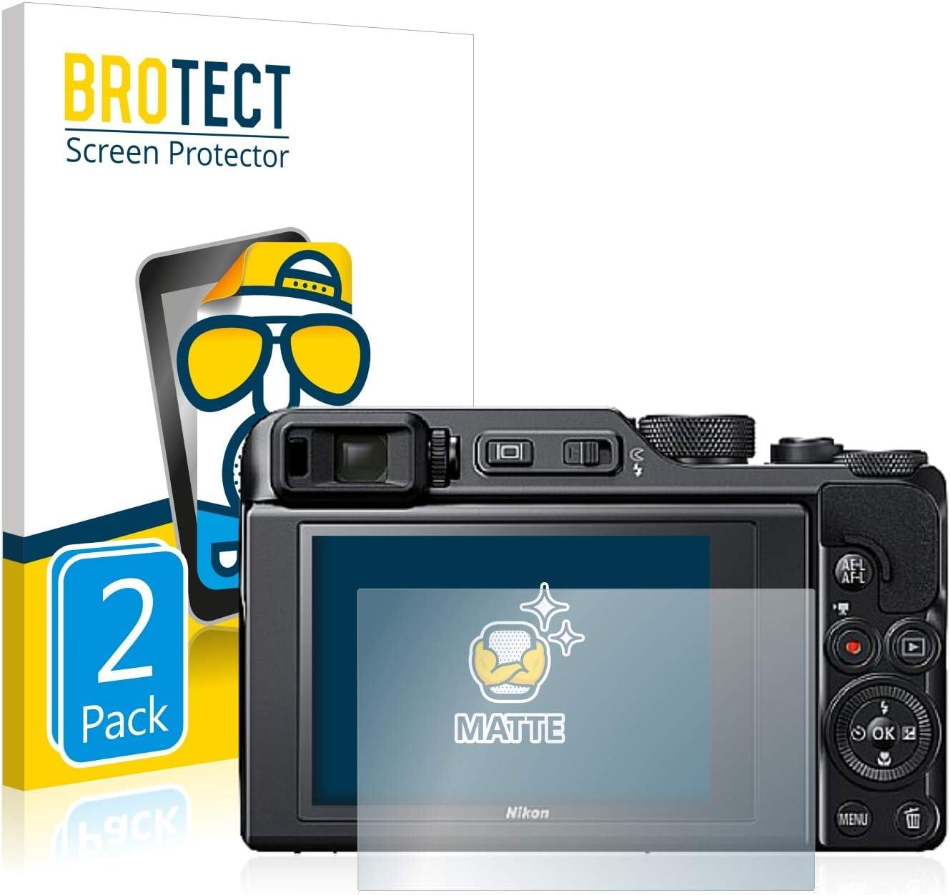 BROTECT Protector Pantalla Anti-Reflejos Compatible con Nikon Coolpix A1000 2 Unidades Pelicula Mate Anti-Huellas