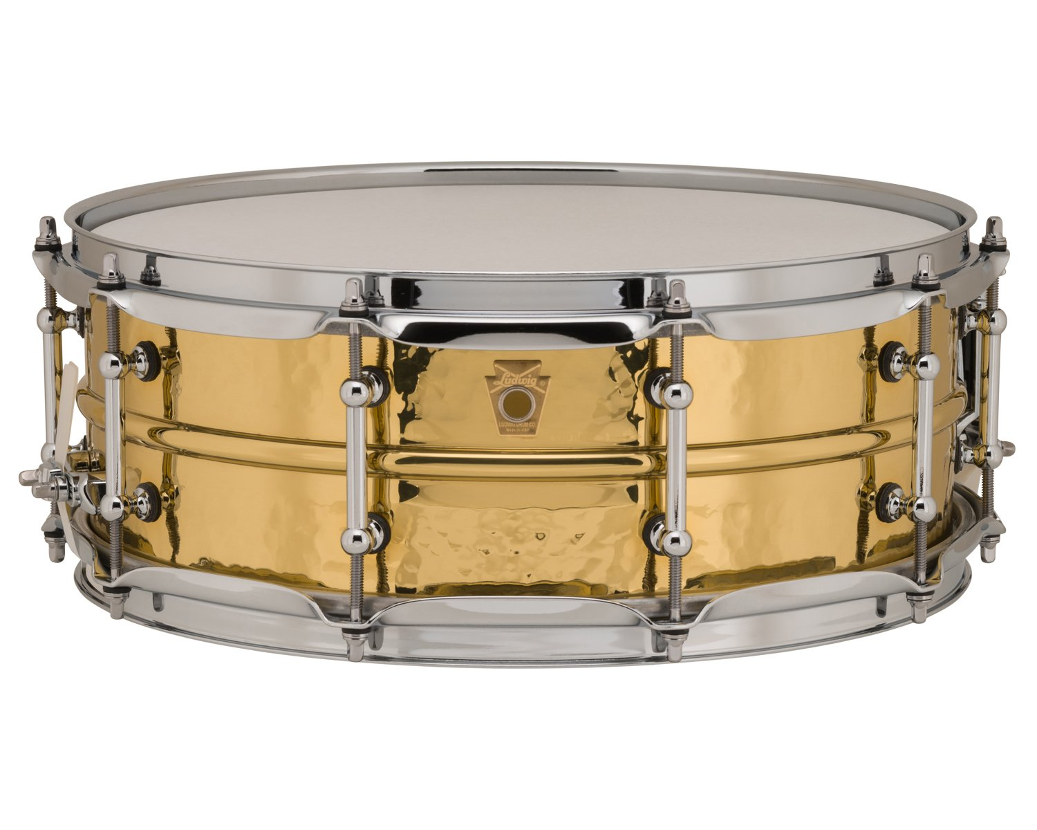 Ludwig 5x14 Hammered Brass Snare Drum