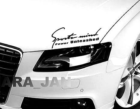 Racing POWER Sport Vinyl Decal Sticker sport car hood racing emblem logo SILVER