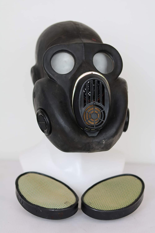 Aesy M/áscara de Gas para CS con Doble//Soltero Ventilador Deportes Al Aire Libre Completo Cubierto Casco Ordenador Personal Lente Ajustable Choque Resistencia Cabeza