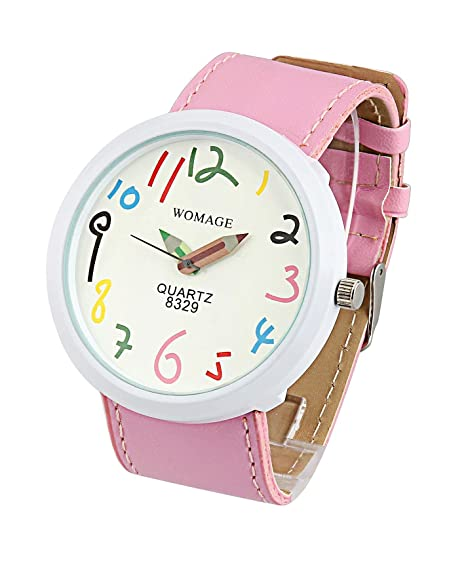 ShoppeWatch Womens Watch Pink Leather Band Large Face Fashion Watch Easy Read Reloj SW8329PKWH