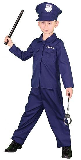 Foxxeo Traje de policía para niños Traje de niños SEK Trajes ...
