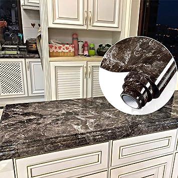 YENHOME Countertop Contact Paper 24 x 196 inch Sandstone Black Granite  Marble Contact Paper Decorative Vinyl Film for Kitchen Countertops Peel and  ...