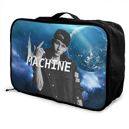 6e0a68c444d16 Amazon.com  HoriuchiNana Unisex Machine Gun Kelly Fashion Music Band Fans  Lightweight Large Capacity Portable Travel Luggage Bag Gift  Home   Kitchen