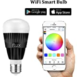 Flux WiFi Smart LED Light Bulb - Works with Alexa and IFTTT - Smartphone Controlled Multicolored Color Changing Lights - Dimmable Night Light - 10 Watts (70 Watts Equivalent)