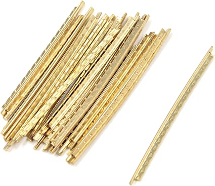 20Pcs Gold Brass Standard Guitar Fret Wires For Electric Classical Acoustic Guit
