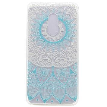 Funda Xiaomi Redmi Note 4 Mandala, Funluna Ultra Delgado Clara Carcasa Flexible Transparente Suave TPU Gel Bumper Protectora de Espalda Cubierta para ...