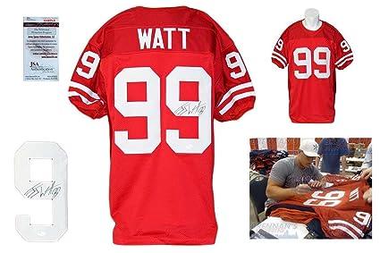 a9072c9f1fa Signed J.J. Watt Jersey - JJ Witnessed College - JSA Certified - Autographed  NFL Jerseys