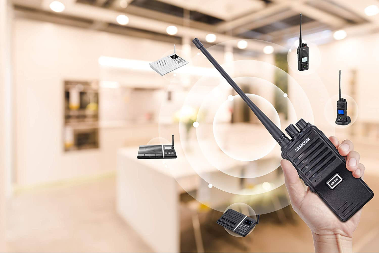 SAMCOM FPEN10A 20 Channels 2 Way Radio with Group Function, UHF Long Range Handheld Walkie Talkie 2 Watts 6 Packs,Black
