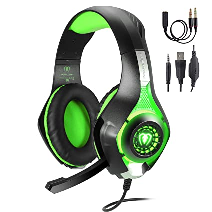 edd1c00a00f TURN RAISE 3.5mm Stereo Gaming Headset for PS4, PC, Xbox One Controller,