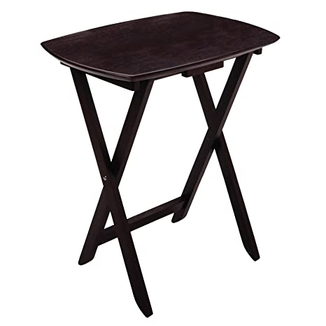 Winsome Wood Single Oversized Tv Tables Oblong Espresso Set Of 4