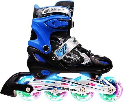Safe and Durable Inline Roller Skates for Girls and Boys Outdoor Blades Roller Skates with Full Light Up LED Wheels Kids Adjustable Inline Skates