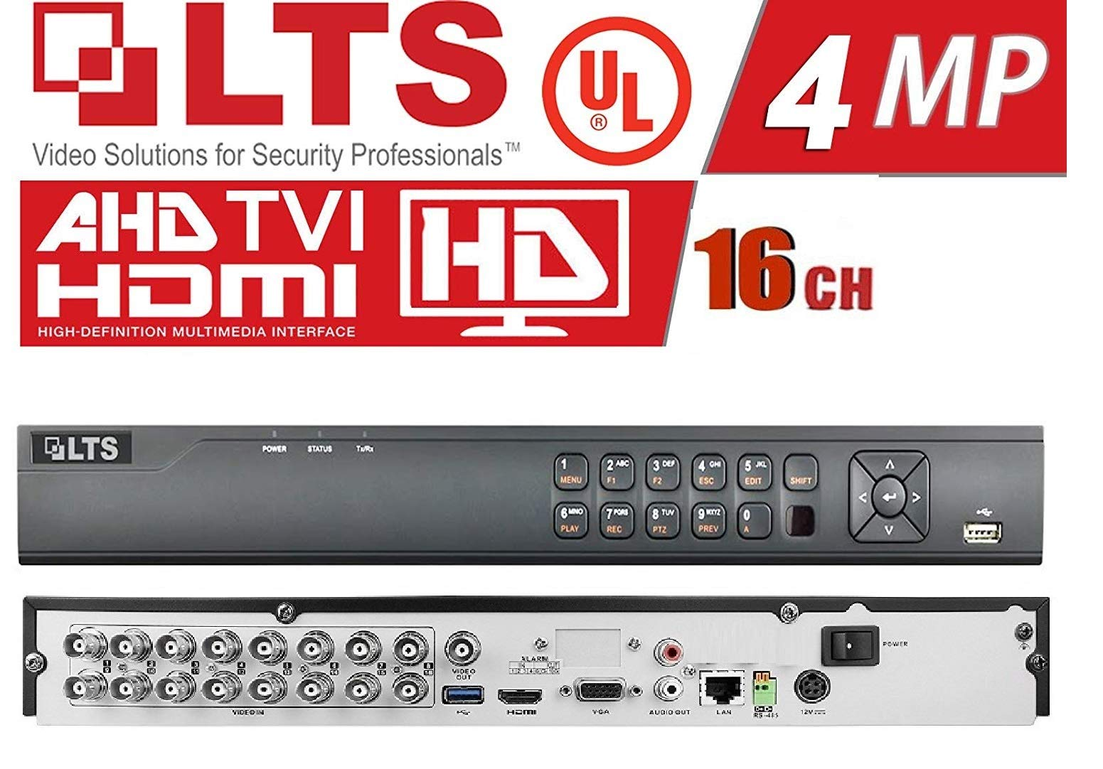 LTS LTD8316K-ET H.265+ Platinum Professional Level 16 Channel HD-TVI DVR, Digitech Solutions Inc.