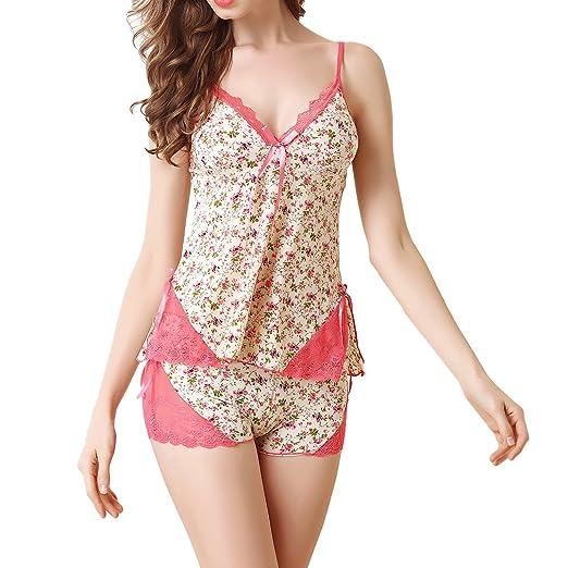 Women Sexy Lingerie Lace Nightwear Satin Sleepwear Camisole Short Sets … 2484a5227