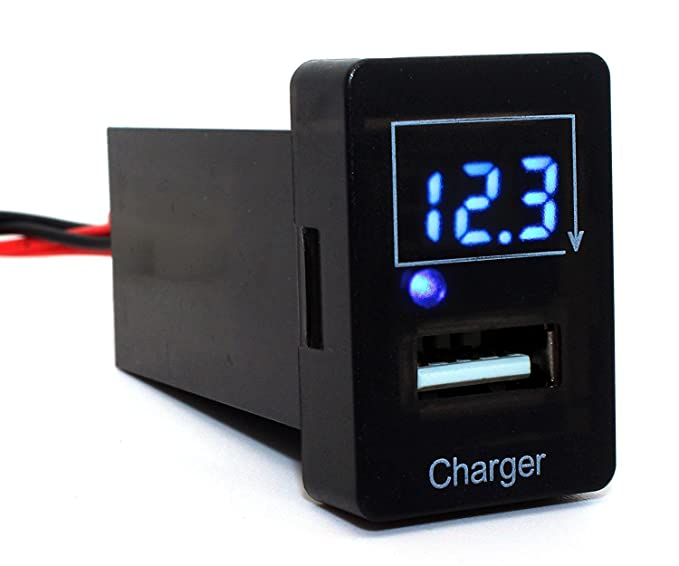 Swell Amazon Com Cllena Toyota Usb Charger Voltmeter Tester 1 9Ft Wiring 101 Capemaxxcnl