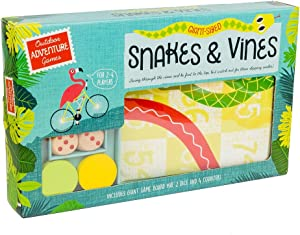 Giant Snakes & Vines - Giant Snake & Ladders Garden Game / Outdoor Games - Giant Board, 2 Die, 4 Counters.