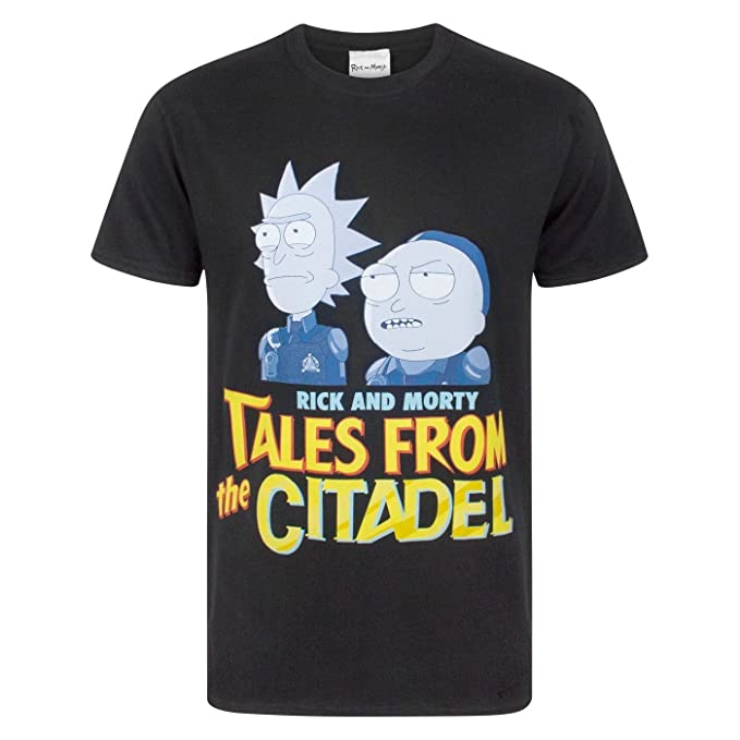Rick and Morty - Camiseta Modelo Tales from The Citadel para Hombre: Amazon.es: Ropa y accesorios