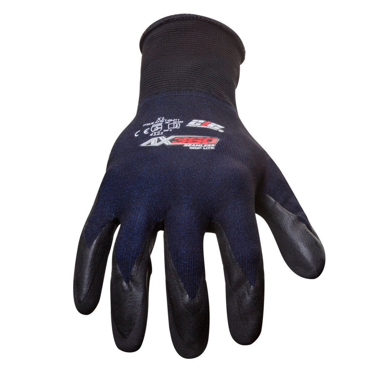 212 Performance Gloves AXGLT-05-010 AX360 Grip Lite Nitrile-dipped Work Glove, 12-Pair Bulk Pack, Large by 219 Performance Gloves (Image #2)