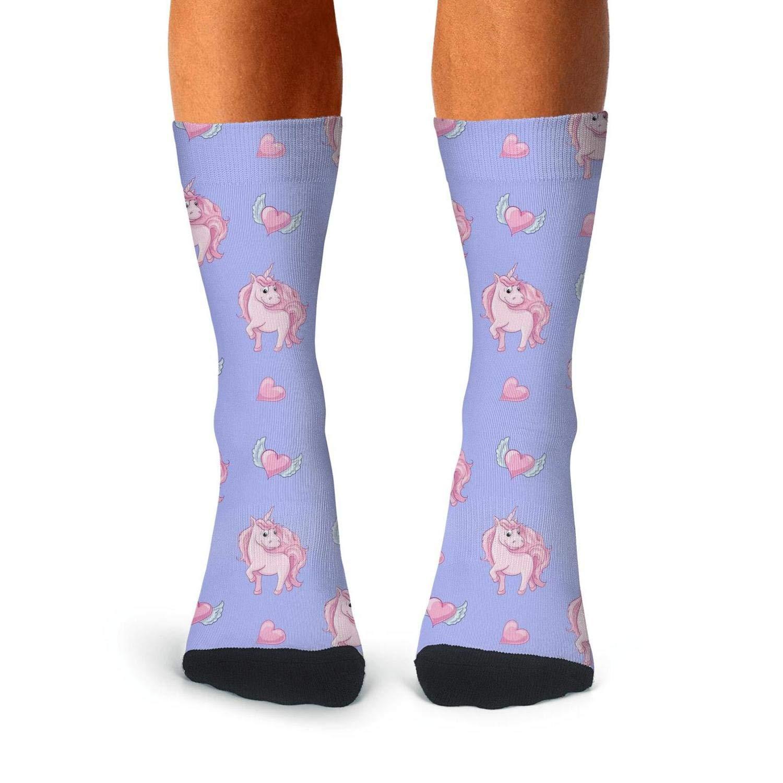 Mens Compression Socks unicorn seamless pattern Cool Socks